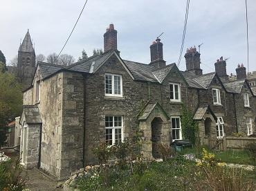 Photograph showing the one of the Bedford Cottages in Tavistock conservation area